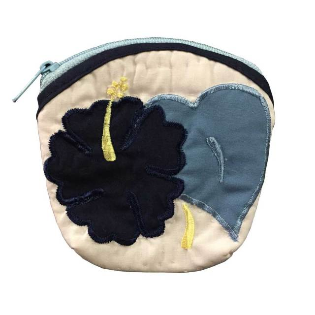 ハワイアンキルト Hawaiian Quilt  ハイビスカスコインケース/インテリア小物