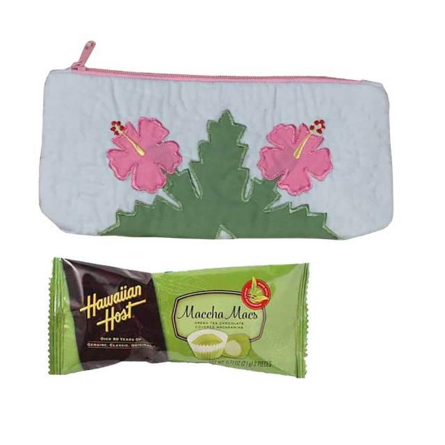 ハワイアンキルト ハワイアンキルト ハイビスカス柄ペンケース×ハワイアンホーストチョコレートセット