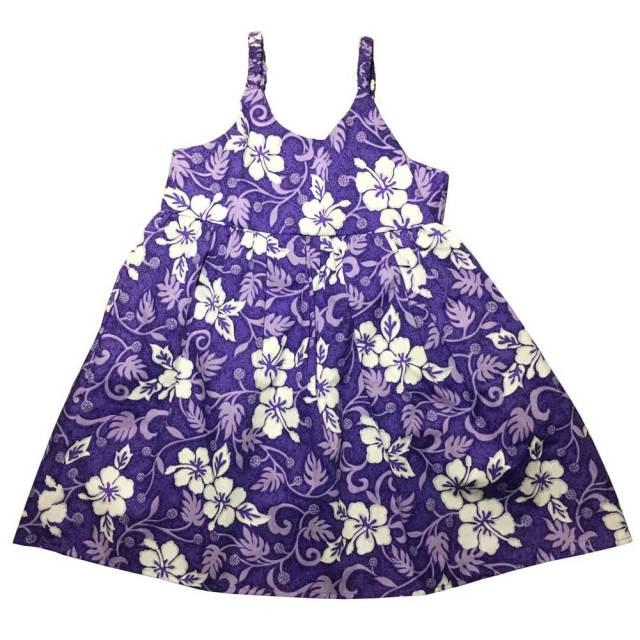 ハワイアン キッズ ワンピース パープル 8歳/女の子用 子供服