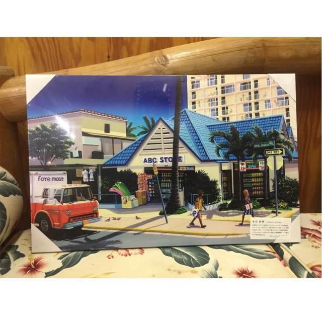 絵画 ハワイ キャンパスパネル絵 ABC  store 栗山義勝/Yoshikatsu Kuriyama ハワイアン雑貨