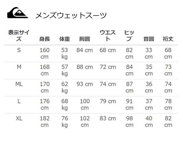 QUIKSILVER クイックシルバー メンズフルスーツ 5/3mm HIGHLINE TECH Long Chest Zip QWT174803