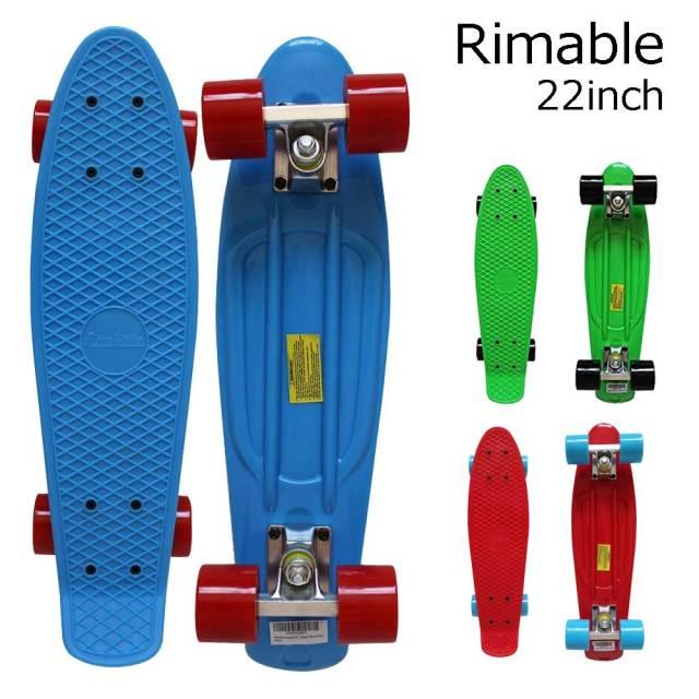 リマブル Rimable22インチ ステレオビニールミニクルーザータイプコンプリートスケートボード