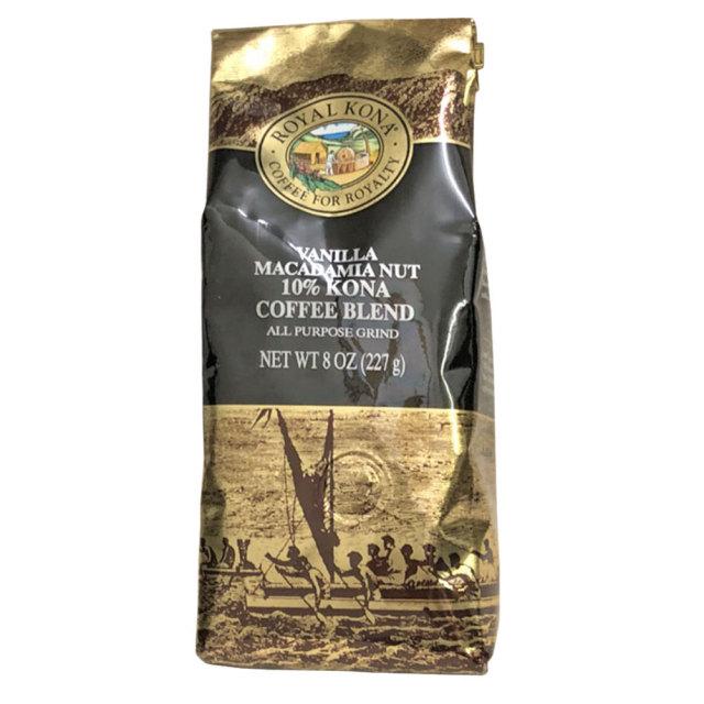 ROYAL KONA Coffee ロイヤルコナコーヒー  10% Kona CoffeeBlend Vanilla Macadamia  7OZ 198g/バニラマカダミア
