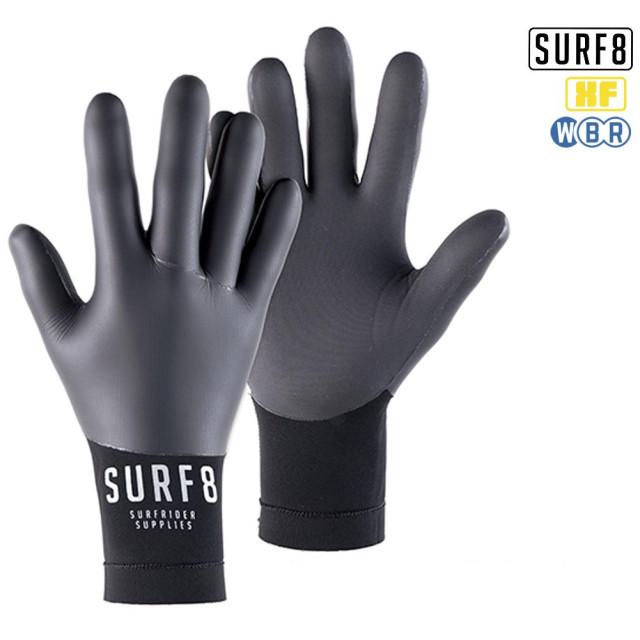 SURF8 2mm スムースラバーグローブ XFLEX 87F2X9/サーフエイト 手袋 防寒サーフ用品