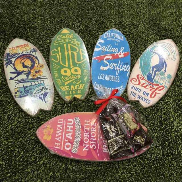 バレンタインセット Antique WoodBoard レトロ調 ウッドサーフボード マカダミアナッツチョコ