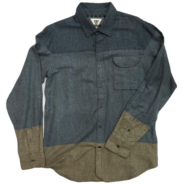 VISSLA ビスラ メンズロングシャツ shirts Mサイズ/メンズウェア
