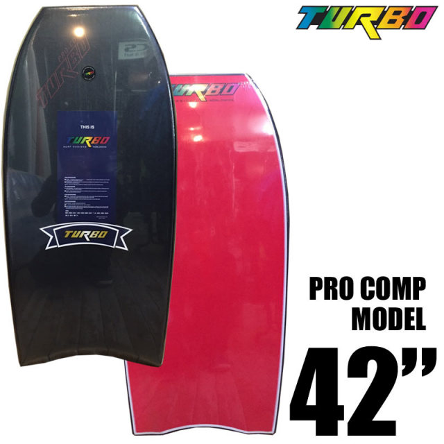 ボディボード TURBO SURF DESIGNS PRO COMP MODEL 42インチ BLACK DECK RED BOTTOM/ターボ BODY BOARD