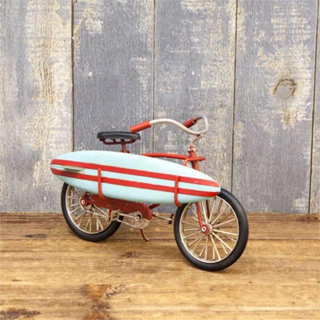 ブリキのおもちゃ Surf Bicycle/インテリア雑貨 アメリカ雑貨