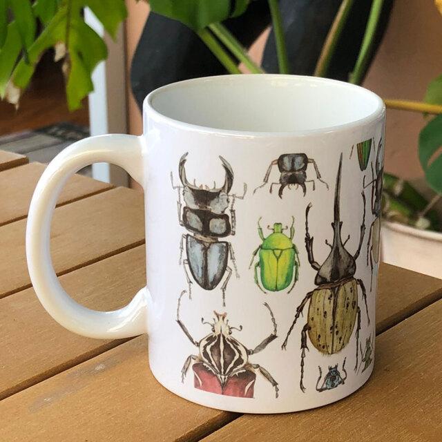 cicada シカダ昆虫マグカップ大 ラッセル・ウィルス ティーカップ コーヒーカップ