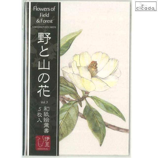 cicada 和紙はがき 野と山の花シリーズ ポストカード5枚組