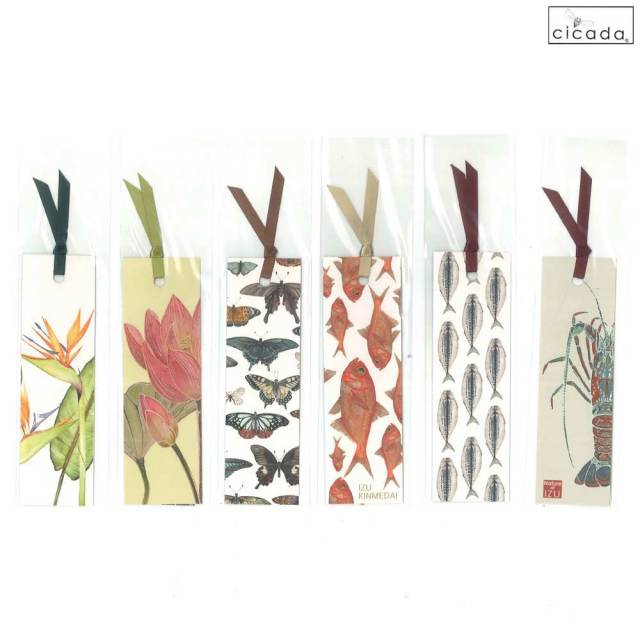 cicada しおり 魚 昆虫 花 ブックマーク 和紙 ラッセル・ウィルス