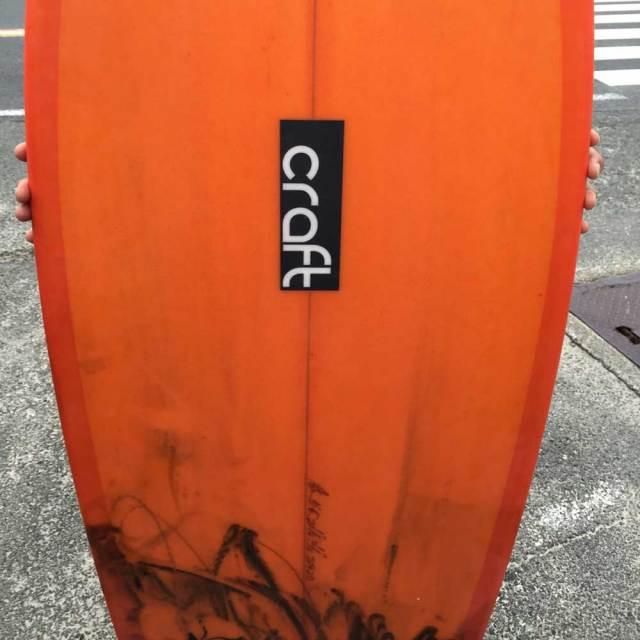 """ショートボード Craft CT-3 5'6"""" Hada Craft Surfboard Factory/フィッシュ FCS2 ツインフィン"""