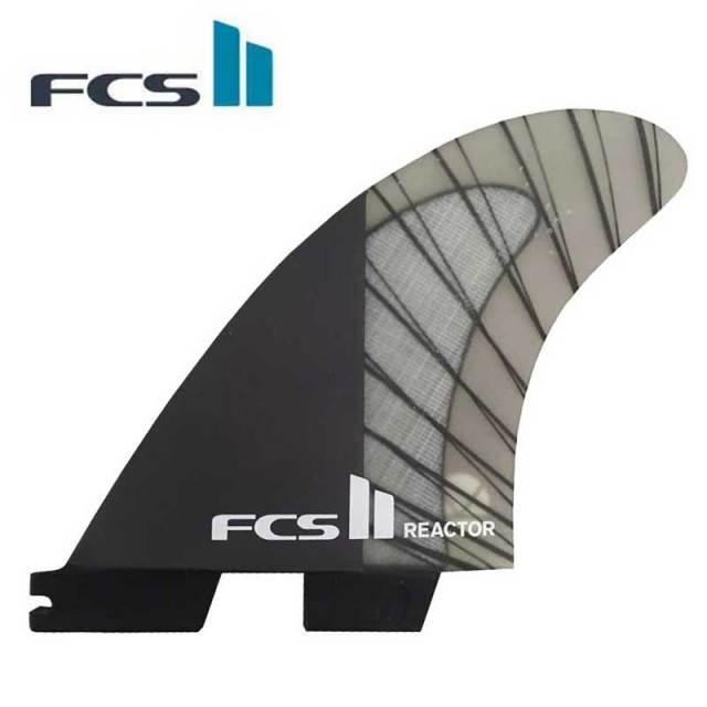 FCS2 フィン REACTOR トライフィン MEDIUM/エフシーエス2 リアクター PC CARBON TRI