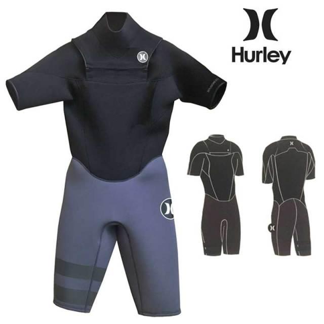 Hurley メンズウェットスーツ ショートスリーブ スプリング  FUSION 302   3×2mm NO ZIPモデル MZSPFS17/男性用ウェットスーツ