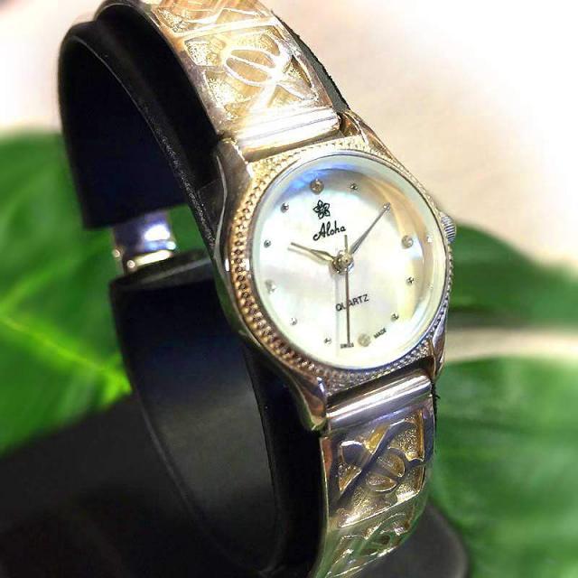 ハワイアンジュエリー 腕時計 シルバー925 撥水ウォッチ ホヌ Hawaiian jewely アクセサリー
