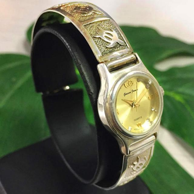ハワイアンジュエリー 撥水腕時計 シルバー ブレス ウォッチ Hawaiian jewely アクセサリー
