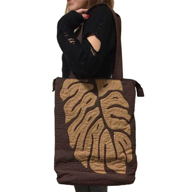 Hawaiian quilt ハワイアンキルト モンステラ柄 トートバッグ/レディース ハワイアン雑貨