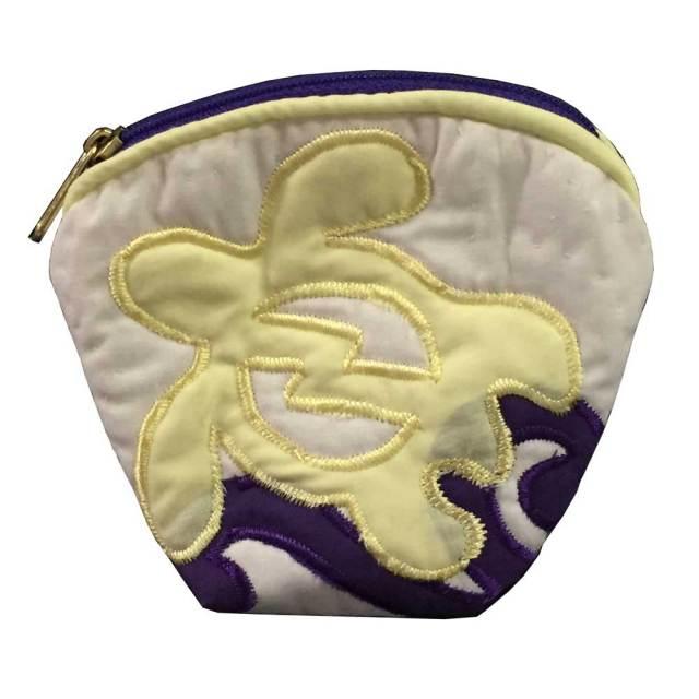 ハワイアンキルト Hawaiian Quilt ホヌ柄コインケース /財布 小銭入れ 小物入れ がま口