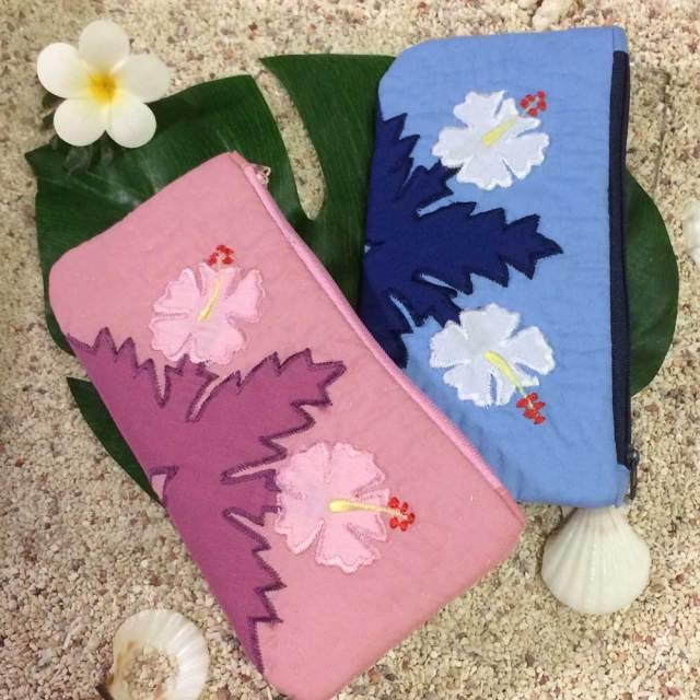 ハワイアンキルト Hawaiian Quilt ハイビスカス ペンケース /筆入れ 小物入れ ポーチ レディースバッグ ハワイアン雑貨