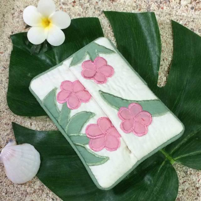 ハワイアンキルト Hawaiian Quilt プルメリア ポケットティッシュケース /インテリア雑貨 ハワイアン雑貨 インテリア 小物