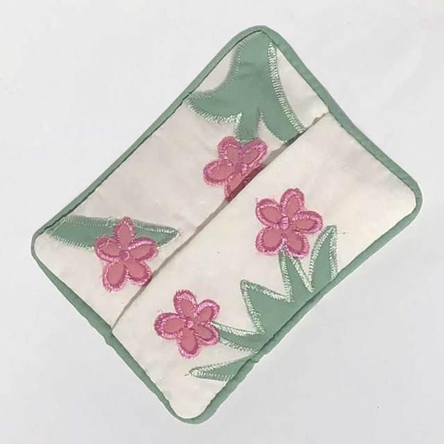 ハワイアンキルト プルメリア ポケットティッシュケース Hawaiian Quilt