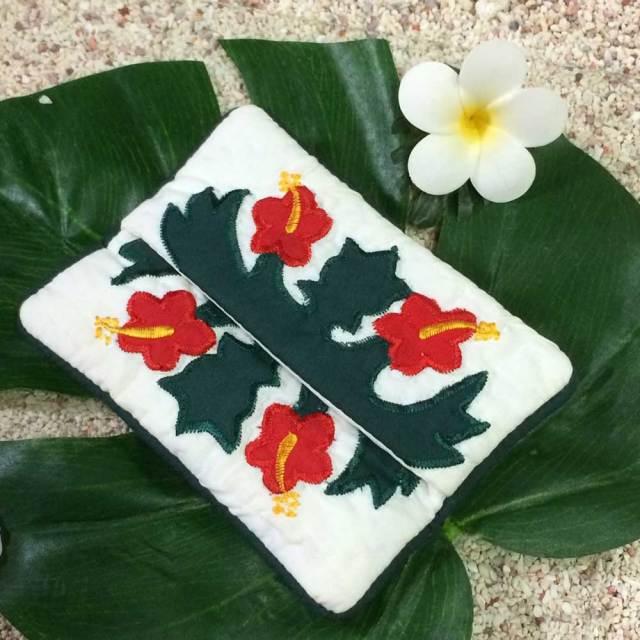 ハワイアンキルト Hawaiian Quilt ハイビスカス ポケットティッシュケース /インテリア雑貨 ハワイアン雑貨 インテリア 小物