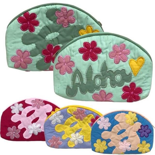 ハワイアンキルト Hawaiian Quilt アロハポーチ/ 化粧ポーチ 小物入れ ハワイアン雑貨