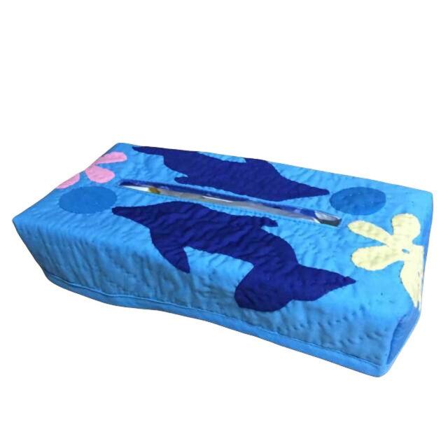 ハワイアンキルト Hawaiian Quilt ティッシュボックスカバー イルカ柄