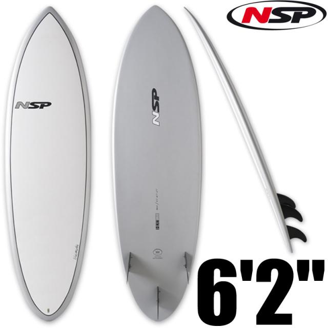 NSP サーフボード Hybrid 6'2 Silver C304524/エポキシボード 初心者 サーフィン
