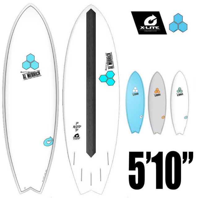 TORQ Surfboard チャンネルアイランド ポッドモッド CI-PODMOD-X-LITE 5'10