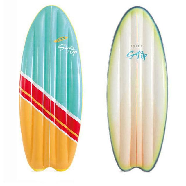INTEX インテックス サーフボード型浮き輪 178×69cm 58152/サーフアップマット 【カラー指定不可】 日本正規品 海水浴 水浴び
