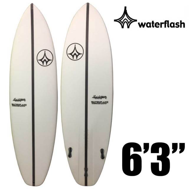 【送料無料】WaterFlash ウォーターフラッシュ サーフボード ショートボード EPSモデル 6'3/FCS2 トライ