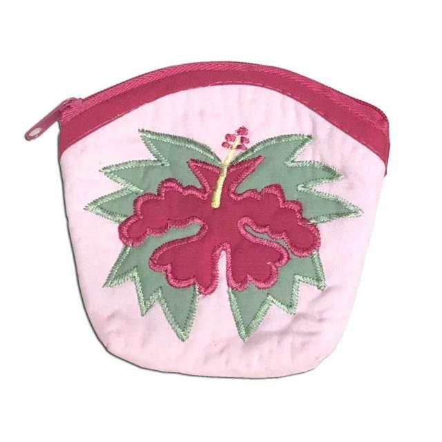 ハワイアンキルト Hawaiian Quilt  ハイビスカスコインケース/財布 小銭入れ 小物入れ
