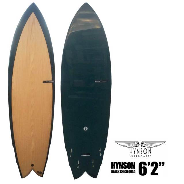 HYNSON SURFBOARDS BLACK KNIGH QUAD 6'2