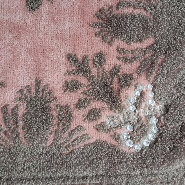 キャシーマム フェイスタオル 34×80cm パンの木 ウル ピンク グレー 34×80cm