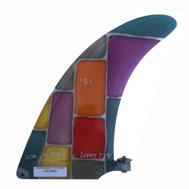 Rainbow fin LOPEZ 7.75 レインボーフィン ステンドグラスフィン/ロングボードフィン センターフィン
