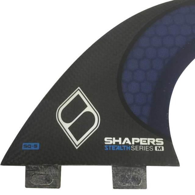SHAPERS FINS QUAD SQ5 carbon stealth シェーパーズフィン カーボンステルス 4フィン  FCS/ショートボード用
