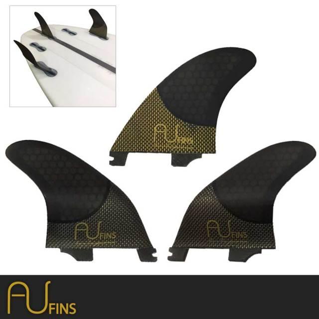 AU FIN  エーユーフィン AU  LR  ハニカム×カーボンフィン Mサイズ Click In FCS2タイプ/ショートボードフィン サーフィン