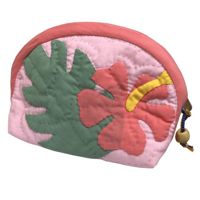 ハワイアンキルト Hawaiian Quilt ティアレポーチ/化粧ポーチ 小物入れ ハワイアン雑貨