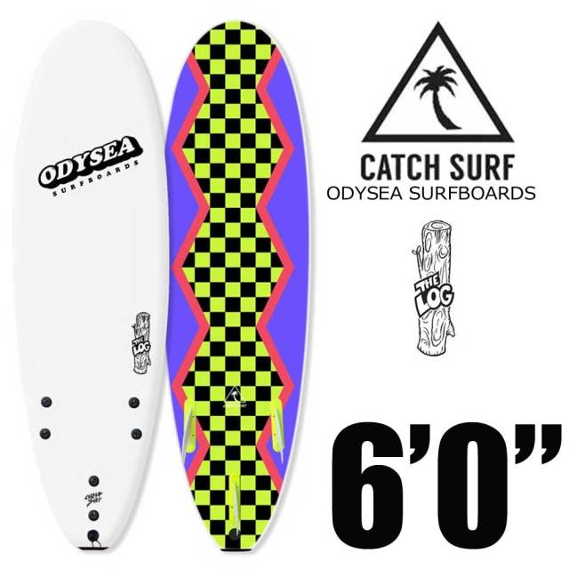 ソフトサーフボード CATCH SURF ODYSEA LOG 6'0 WHITE/80'S STEEZE/キャッチサーフ ログ ホワイト ソフトボード