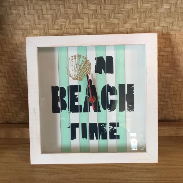 壁掛け時計 「Beach」PUCL-1602 カラー ホワイト/インテリア時計 小物・雑貨