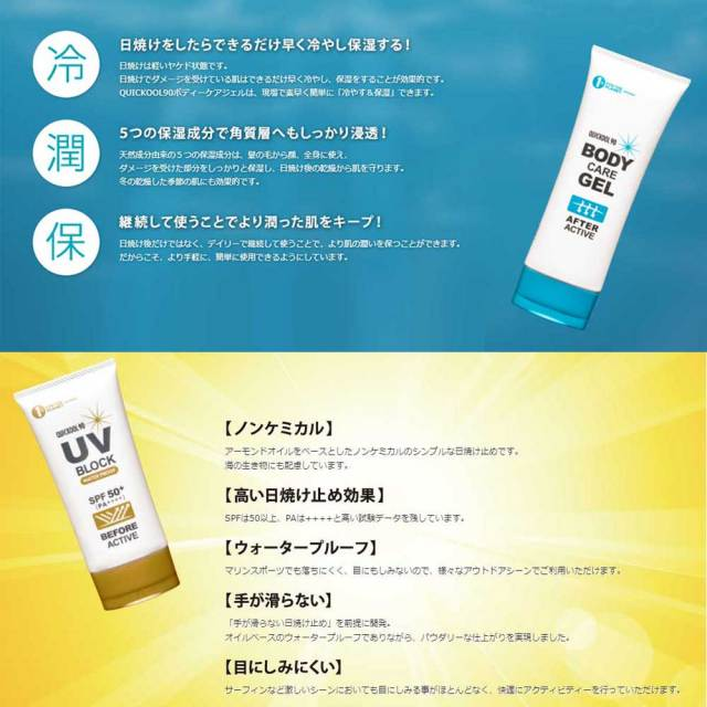 QUICKOOL90 BODY CARE GEL & UV BLOCK2点セット