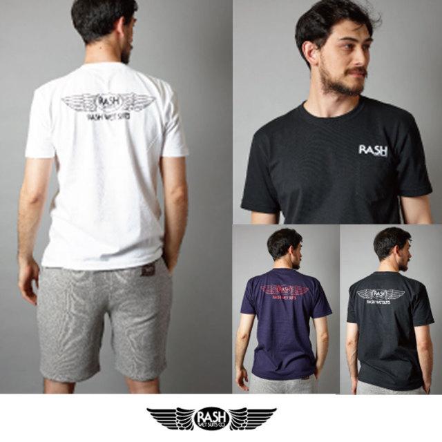 2018 RASHヘビーウェイト羽バックTEE/ 男性用Tシャツ RASHアパレル ラッシュウェットスーツ サーフィン