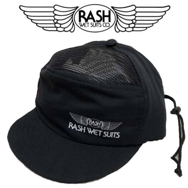 RASH ラッシュ 2018 サーフキャップ ブラック/UVカット 日焼け防止 紫外線対策 サーフィン マリンスポーツ