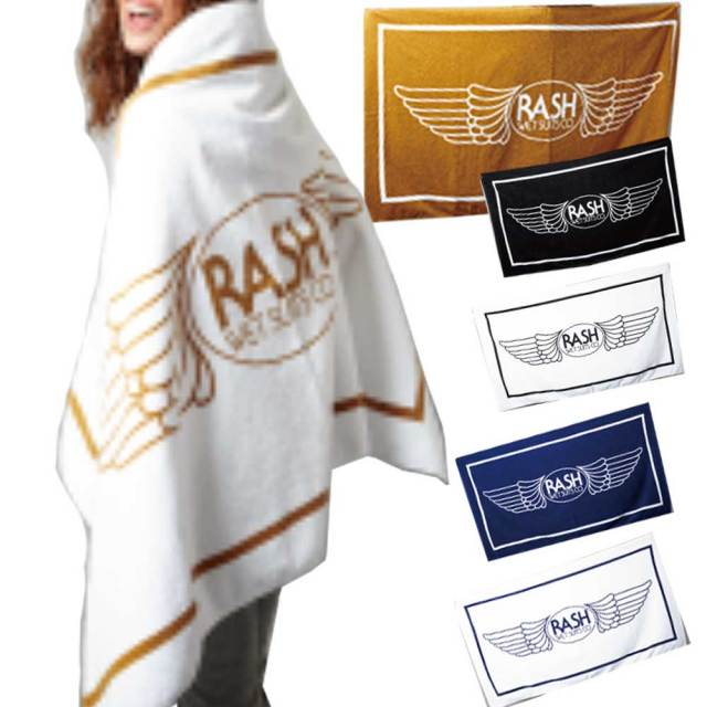 RASH ラッシュビーチタオル 羽マーク/ラッシュ アパレルアクセサリー ラッシュウェットスーツ