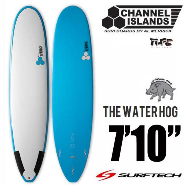 ファンボードCHANNEL ISLANDS チャネルアイランズ SURFTECH AWATER HOG LT.Blue 7'10