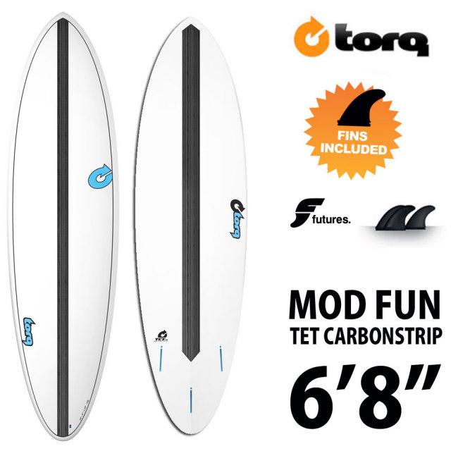 "TORQ Surfboard TET CABON STRIP MOD FUN 6'8""◆トルクサーフボード エポキシ ファンボード"