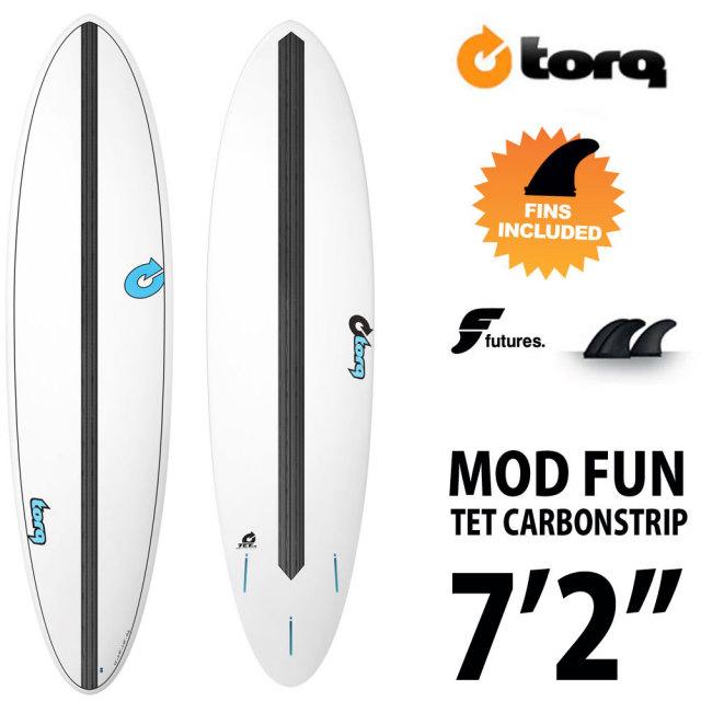 "TORQ Surfboard TET CABON STRIP MOD FUN 7'2""◆トルクサーフボード エポキシ ファンボード"