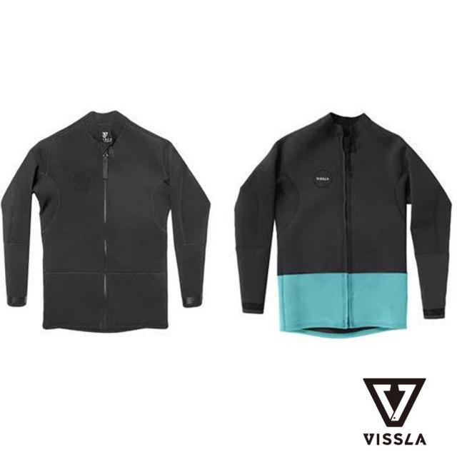 VISSLA ヴィスラ Front Zip Jacket フロントジップジャケット MW02CFZJ18SP/男性用ウェットスーツ サーフィン
