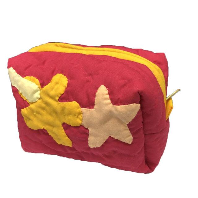 ハワイアンキルト Hawaiian Quilt ヒトデ キャラメルポーチ / レディースバッグ 小物入れ 化粧ポーチ
